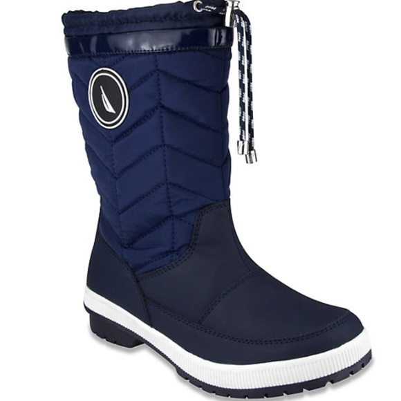 NAUTICA QUILTED INSULATED SNOW  COLD WEATHER BOOTS 37653d4e9